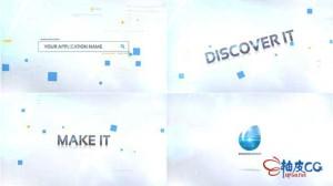 AE模板 企业公司宣传网站搜索演示开场片头