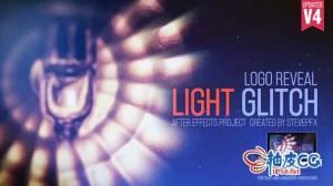 AE模板 光信号故障损坏扭曲标识标志展示 Light Glitch Logo