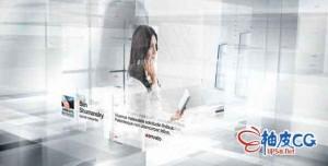 AE模板 创新企业技术3D视差科幻感宣传包装片头 Innovation - Broacast Pack