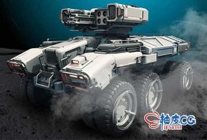 Blender / ZBrush科幻武器车辆3D模型硬表面复杂建模技术视频教程