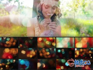 100组自然多彩光晕散景效果光感背景2K高清视频素材