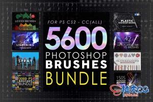 5600+个Photoshop超级笔刷捆绑包