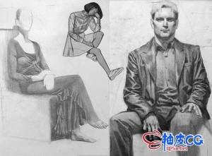 Photoshop人物绘制逼真服装和质感全面剖析PS视频教程