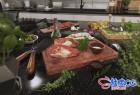 3DSMAX / C4D / VRay火腿核桃花生面板啤酒蔬菜甜点炊具3D模型