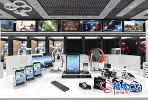 40组3DSMAX / VRay电脑手机游戏机电子产品精细3D模型