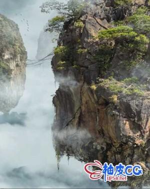 AE & PS制作幻境石山悬浮景观特效视频教程