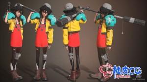 ZBrush风格化女孩角色艺术高手制作全流程视频教程