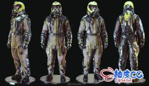 Zbrush / Keyshot / Photoshop未来消防员角色概念教程