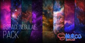 8种宇宙银河星系太空星云飞行特效天文学动态背景素材