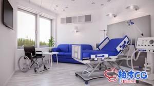 C4D / 3DSMAX / VRay医院医疗设备高品质3D模型