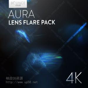 50组镜头眩光光斑耀斑背景虚化 后期特效合成4K高清视频素材包