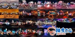 16张曼哈顿之夜HDR高清全景环境贴图素材