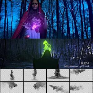 影视魔术魔幻魔法烟雾元素 4K高清带Alpha通道视频素材