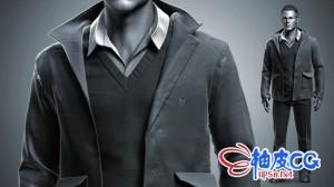 AAA游戏男性角色的逼真服装制作全流程视频教程