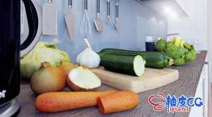 3DSMAX / C4D / VRay水果食品蔬菜肉食点心高品质3D模型