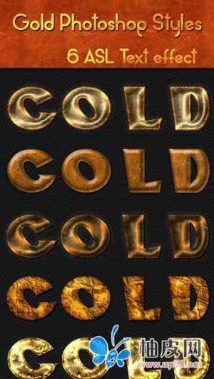 6款立体感强超炫酷的photoshop黄金质感字体样式