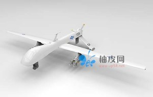 带导弹的无人机3D模型免费下载