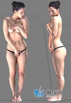 逼真性感美女3D模型免费下载