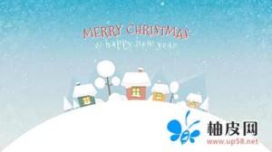 MG动画片头-可爱圣诞节AE模板扁平化场景