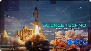 AE模板-科技感HUD视差图片视频宣传片头Science Techno Parallax Slideshow
