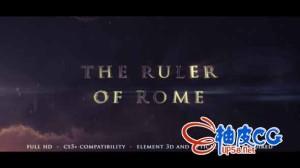 AE模板 史诗级罗马电影开场介绍3D标题展示视频 THE RULER OF ROME - CINEMATIC TRAILER
