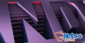 AE模板-E3D三维像素方块汇聚文字LOGO动画片头 Clean Pieces Vol 2