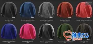 Substance Painter布料材质预设20个 New Fabrics