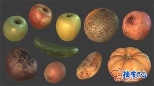 蔬菜瓜果3D模型Photoreal Food