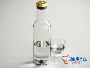精致的玻璃瓶玻璃杯3D模型 Bottle Carafe 3D Model Files