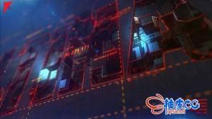 AE模板 炫酷的高科技感变形金刚效果的标识logo展示 Transforming Element3D Logo