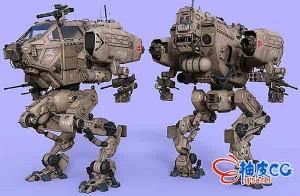 DAZ studio 3D模型机器人LG07 Combat Mech