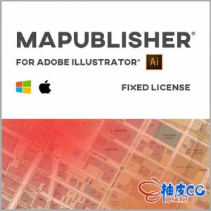 GIS地图工具无缝集成到Adobe Illustrator插件Avenza MAPublisher WIN/MAC破解版