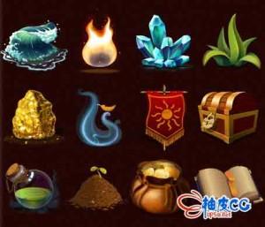 21组游戏PNG透明背景GUI图标Unity游戏素材资源