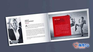 AE模板-企业宣传推广书籍画册翻页动画展示