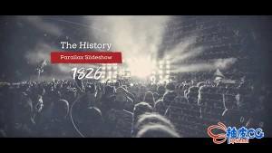 AE模板-企业电影历史视差记录片