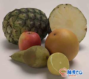 水果柠檬菠萝苹果食品面包3D模型