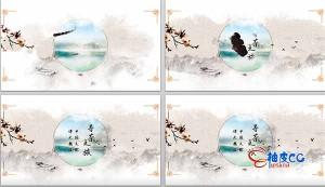 AE模板-中国风古典水墨墨滴字幕条