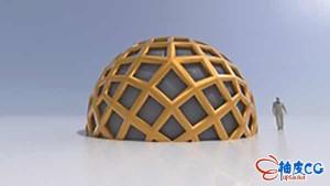 使用Rhino参数化插件Grasshopper创建测地线圆顶3D模型