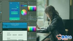 illustrator视频教程 平面设计可视化结构与布局技术(英文字幕)
