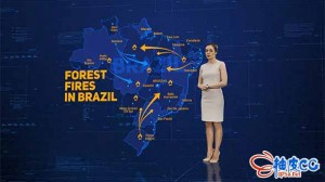 AE模板 世界地图各洲国家HUD科技感元素新闻报道视频 Maps Pack folder