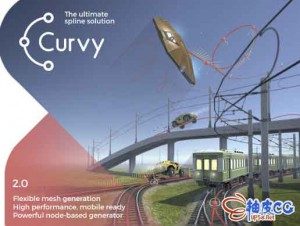 Unity 3D样条路径编辑器 Curvy Splines v6.0.1 / 7.1.4