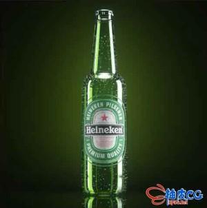 C4D + OC创建啤酒瓶产品效果渲染视频教程