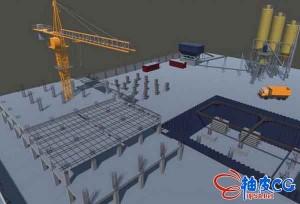 Unity 3D建筑施工现场低模3D模型集合