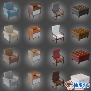 16个室内家居多格式3D模型素材包