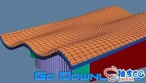 3dsmax屋顶瓦盖生成插件 AvizStudioTools-ATiles 2.0