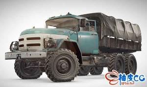 陈旧的PUBG卡车三维模型