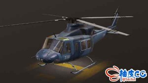 Bell 412 Helicopter直升机3D模型