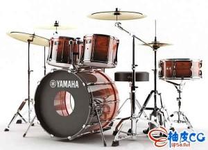 3dsmax雅马哈Yamaha架子鼓3D模型