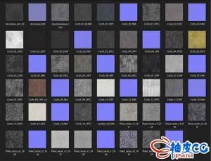 OC / Octane渲染器C4D布料面料材质预设