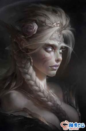 Photoshop数字手绘精灵女祭司全过程视频教程
